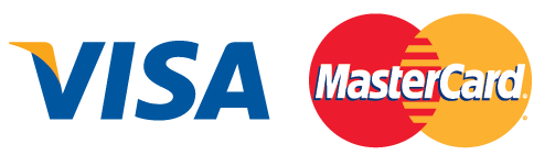 Pagos seguros mediante Visa y Mastercard.